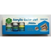 Гуашь   АКРИЛ В БАНОЧКАХ 6 цветов 7256 А Acrylic Color Set Studio