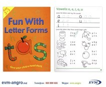 ����� ���������   1301  8 ������� ENGLISH 3 5��� ��������� FUN WITH LETTER FORMS GA3127 �4