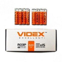 Батарейка   Videx R03P AAA 4pcs SHRINK Китай  R03P/AAA
